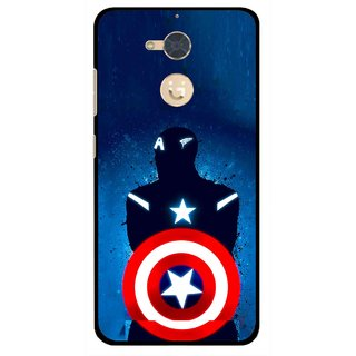 Snooky Printed America Sheild Mobile Back Cover For Gionee S6 Pro - Multi