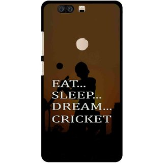 Snooky Printed All Is Cricket Mobile Back Cover For Huawei Honor 8 - Multi