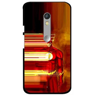 Snooky Printed Electric Man Mobile Back Cover For Motorola Moto X Play - Multi