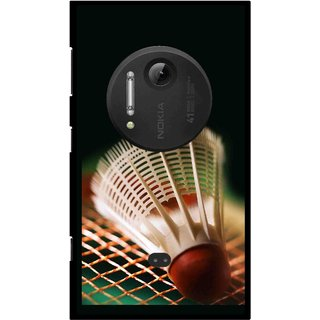 Snooky Printed Badminton Mobile Back Cover For Nokia Lumia 1020 - Multi