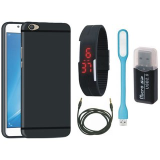 Lenovo K4 Note Stylish Back Cover with Memory Card Reader, Digital Watch, USB LED Light and AUX Cable