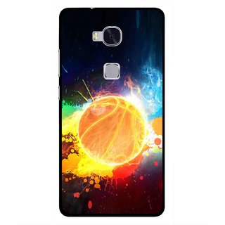 Snooky Printed Paint Globe Mobile Back Cover For Huawei Honor 5X - Multi