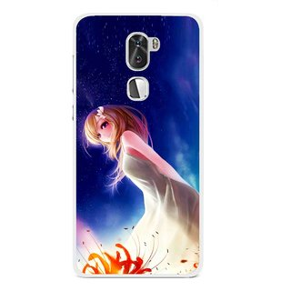 Snooky Printed Angel Girl Mobile Back Cover For Coolpad Cool 1 - Multi