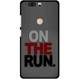 Snooky Printed On The Run Mobile Back Cover For Huawei Honor 8 - Multi