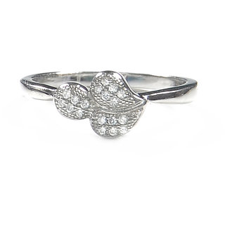 Verra Leaves Sterling Silver Cubic Zirconia Ring