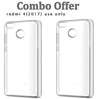 lot of 2 Redmi 4 Soft Transparent Back Case Cover
