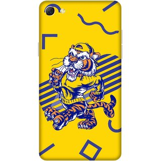 Print Opera Hard Plastic Designer Printed Phone Cover for oppo f3plus-oppo r9splus Tiger in uniform with yellow background