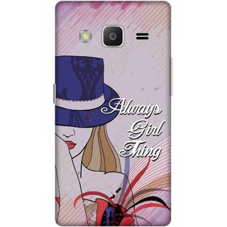 Print Opera Hard Plastic Designer Printed Phone Cover for samsung z32015-z3corporateedition Always girl thing pink