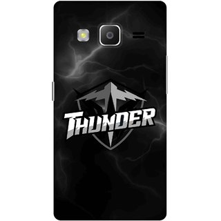 Print Opera Hard Plastic Designer Printed Phone Cover for samsung z32015-z3corporateedition Thunder in black and white texture
