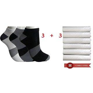 Angel homes Socks Handkerchief Pack 3+3 Pcs