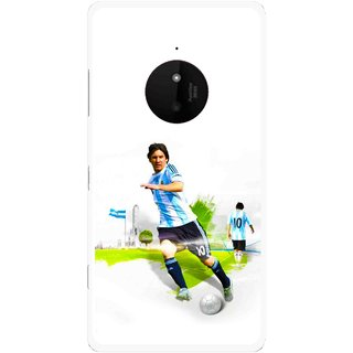 Snooky Printed Football Mania Mobile Back Cover For Microsoft Lumia 830 - Multi