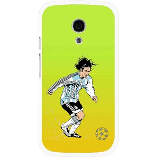 Snooky Printed Focus Ball Mobile Back Cover For Moto G2 - Multi