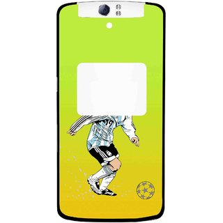 Snooky Printed Focus Ball Mobile Back Cover For Oppo N1 - Multi