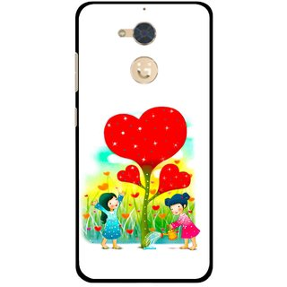 Snooky Printed Heart Plant Mobile Back Cover For Gionee S6 Pro - Multi