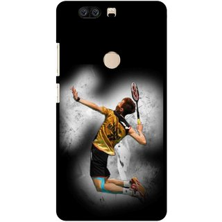 Snooky Printed Badminton Mania Mobile Back Cover For Huawei Honor 8 - Multi