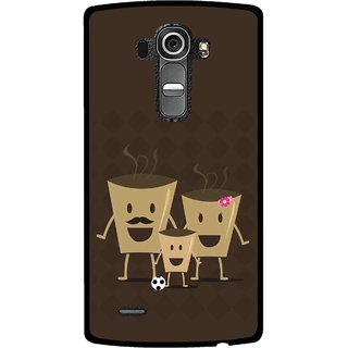 Snooky Printed Wake Up Coffee Mobile Back Cover For Lg G4 - Multi