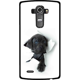Snooky Printed Cute Dog Mobile Back Cover For Lg G4 - Multi