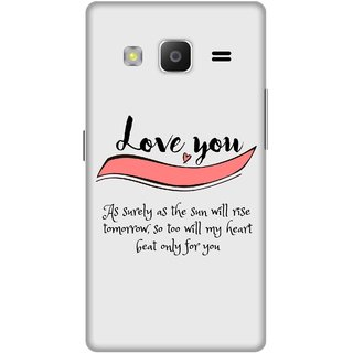 Print Opera Hard Plastic Designer Printed Phone Cover for samsung z32015-z3corporateedition Love you
