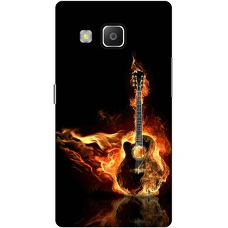 Print Opera Hard Plastic Designer Printed Phone Cover for samsung z32015-z3corporateedition Fired guitar black background