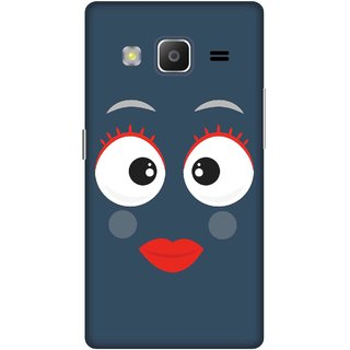 Print Opera Hard Plastic Designer Printed Phone Cover for samsung z32015-z3corporateedition Smiling face red and white