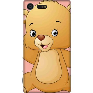 Print Opera Hard Plastic Designer Printed Phone Cover for sony xperiaxcompact Teddy bear