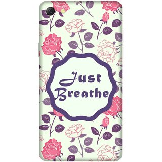 Print Opera Hard Plastic Designer Printed Phone Cover for oppo f3plus-oppo r9splus Just breathe floral