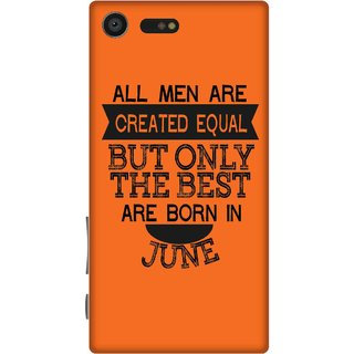 Print Opera Hard Plastic Designer Printed Phone Cover for sony xperiaxcompact Best man born in june