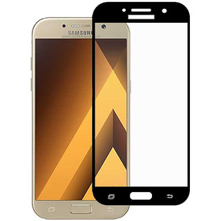 Stuffcool Mighty 2.5D Full Screen Tempered Glass Screen Protector for Samsung Galaxy A5 2017 - Black