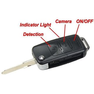 Spy BMW Key Camera hd (720p) 2 hrs battery back up, support all media player