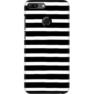 huge discount ab80d 3b1ea Coberta Case Designer Printed Back Cover For Huawei Honor 9 Lite - Black  and White Stripes Design