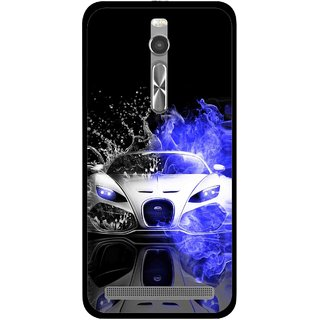 Snooky Printed Super Car Mobile Back Cover For Asus Zenfone 2 - Multi