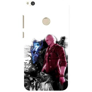 Snooky Printed Fighter Boy Mobile Back Cover For Huawei P8 Lite (2017) - Multi
