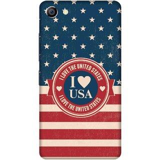 Print Opera Hard Plastic Designer Printed Phone Cover for vivo x7plus I love USA