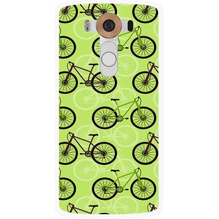 Snooky Printed Cycle Mobile Back Cover For Lg V10 - Multi