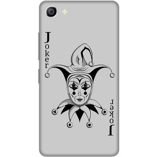 Print Opera Hard Plastic Designer Printed Phone Cover for vivo x7plus Joker card black and grey