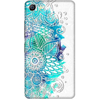 Print Opera Hard Plastic Designer Printed Phone Cover for vivo x7plus Blue watercolor flowers white background