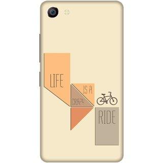 Print Opera Hard Plastic Designer Printed Phone Cover for vivo x7plus Life is a crazy ride