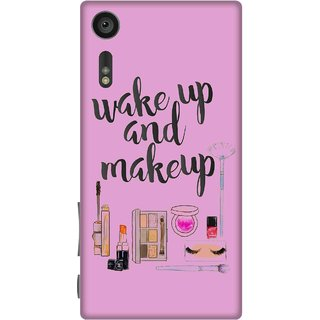 Print Opera Hard Plastic Designer Printed Phone Cover for sony xperiaxz Wake up & make up