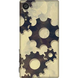 Print Opera Hard Plastic Designer Printed Phone Cover for sony xperiaxz Gears texture