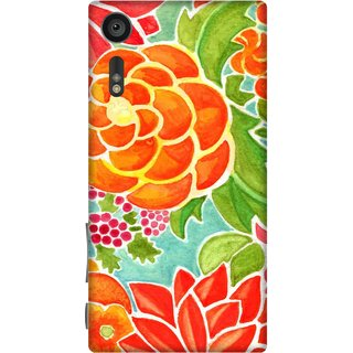 Print Opera Hard Plastic Designer Printed Phone Cover for sony xperiaxz Unique Flowers