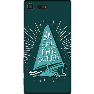 Print Opera Hard Plastic Designer Printed Phone Cover for sony xperiaxcompact Sail the ocean