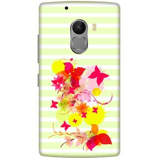 Print Opera Hard Plastic Designer Printed Phone Cover for lenovo a7010-vibek4note Yellow and pink flowers