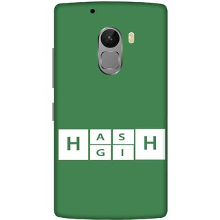 Print Opera Hard Plastic Designer Printed Phone Cover for lenovo a7010-vibek4note Green alphabets in white box