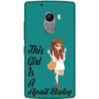 Print Opera Hard Plastic Designer Printed Phone Cover for lenovo a7010-vibek4note This girl is a april baby