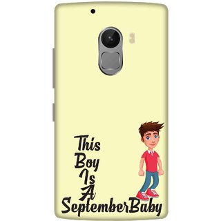 Print Opera Hard Plastic Designer Printed Phone Cover for lenovo a7010-vibek4note This boy is a september baby