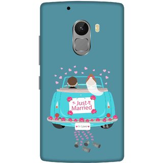 Print Opera Hard Plastic Designer Printed Phone Cover for lenovo a7010-vibek4note Just married couple green background