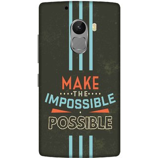 Print Opera Hard Plastic Designer Printed Phone Cover for lenovo a7010-vibek4note Make impossible possible