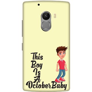Print Opera Hard Plastic Designer Printed Phone Cover for lenovo a7010-vibek4note This boy is a october baby