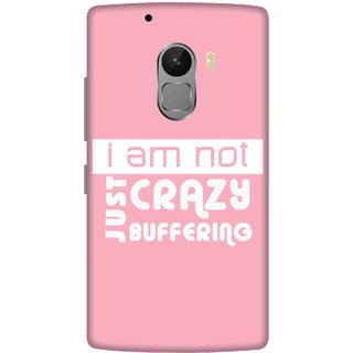Print Opera Hard Plastic Designer Printed Phone Cover for lenovo a7010-vibek4note I am not crazy just buffering