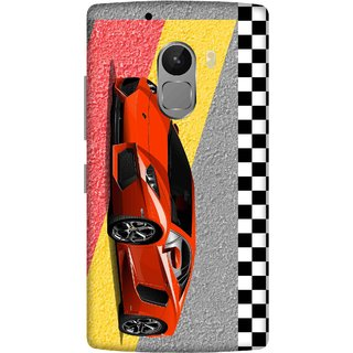 Print Opera Hard Plastic Designer Printed Phone Cover for lenovo a7010-vibek4note Racing car